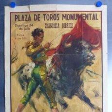 Carteles Toros: CARTEL TOROS - BARCELONA - CURRO GIRON, DIEGO PUERTA, PACO CAMINO - AÑO 1961 - BALLESTAR. Lote 167438708