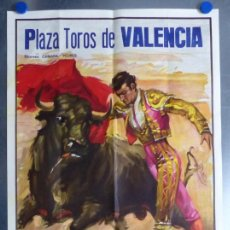 Carteles Toros: CARTEL TOROS VALENCIA - DOS GRANDIOSAS NOVILLADAS, CESAR RINCON -AÑO 1982 - CROS ESTREMS, LITOGRAFIA. Lote 167454028