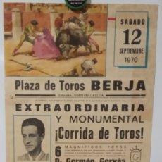 Carteles Toros: EL VITI.MANUEL MARQUEZ.EL BORMUJANO.PLAZA DE TOROS DE BERJA.ALMERIA.(1970). Lote 133286098