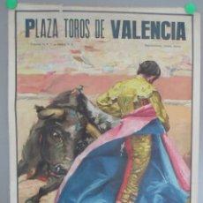 Carteles Toros: CARTEL TOROS, PLAZA TOROS VALENCIA, 1968, SANTIAGO LOPEZ, MARISMEÑO, RUIZ MIGUEL, CTT5. Lote 167705248