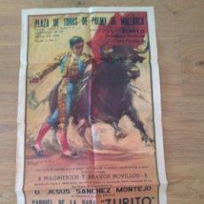 Carteles Toros: PLAZA DE TOROS PALMA 1964. ZURITO. EL ESTUDIANTE . DIEGO FRANCISCO. Lote 167744524