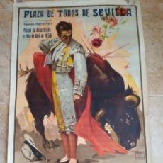 Carteles Toros: CARTEL TOROS PASCUA RESURRECCION Y FERIA ABRIL 1956, SEVILLA. ANTONIO ORDOÑEZ, ANTONIO BIENVENIDA. Lote 167824508