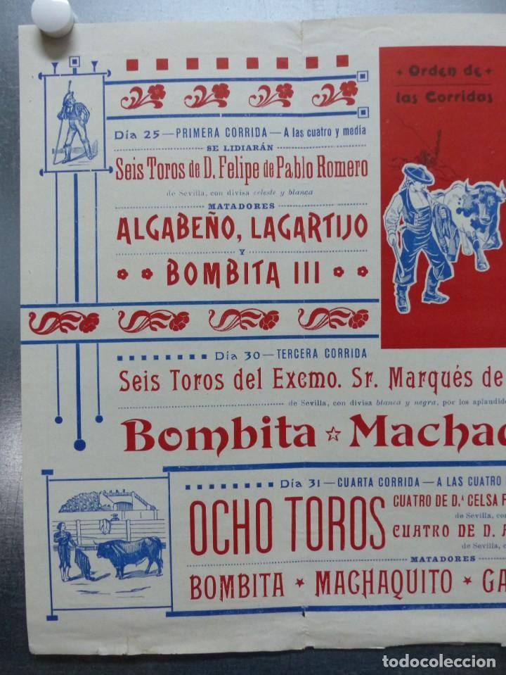 Carteles Toros: CARTEL DE ABONO TOROS VALENCIA - FERIA DE JULIO DE 1908, BOMBITA, MACHAQUITO, GALLO, LAGARTIJO - Foto 2 - 167826108