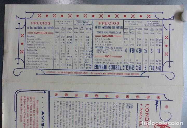 Carteles Toros: CARTEL DE ABONO TOROS VALENCIA - FERIA DE JULIO DE 1908, BOMBITA, MACHAQUITO, GALLO, LAGARTIJO - Foto 7 - 167826108