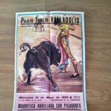 Affissi Tauromachia: PLAZA TOROS VALLADOLID 1959. CIVIL, ANTONIO DE JESÚS, CÉSAR ORTEGA. Lote 167837460