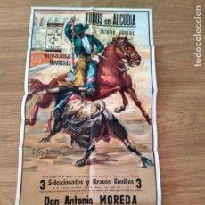 Affissi Tauromachia: PLAZA DE TOROS DE ALCUDIA. 1966. MOREDA. ROMERO. EL FEO. Lote 167841092
