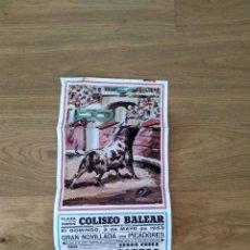 Affissi Tauromachia: PLAZA DE TOROS PALMA. 1953. CORPAS. RODRIGUEZ CARO. PARRITA.. Lote 167844752