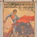 Carteles Toros: PLAZA DE TOROS DE LA REAL MAESTRANZA DE CABALLERIA - 200 ANIVERSARIO RONDA 1785-1985. Lote 167981078