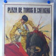 Carteles Toros: CARTEL TOROS CARTAGENA, MURCIA - 14 DE JUNIO DE 1942 - RUANO LLOPIS - LITOGRAFIA. Lote 168083340