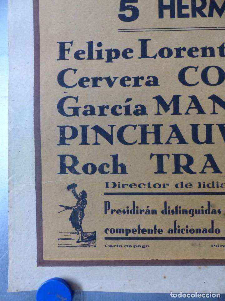 Carteles Toros: CARTEL TOROS CARTAGENA, MURCIA - 14 DE JUNIO DE 1942 - RUANO LLOPIS - LITOGRAFIA - Foto 3 - 168083340