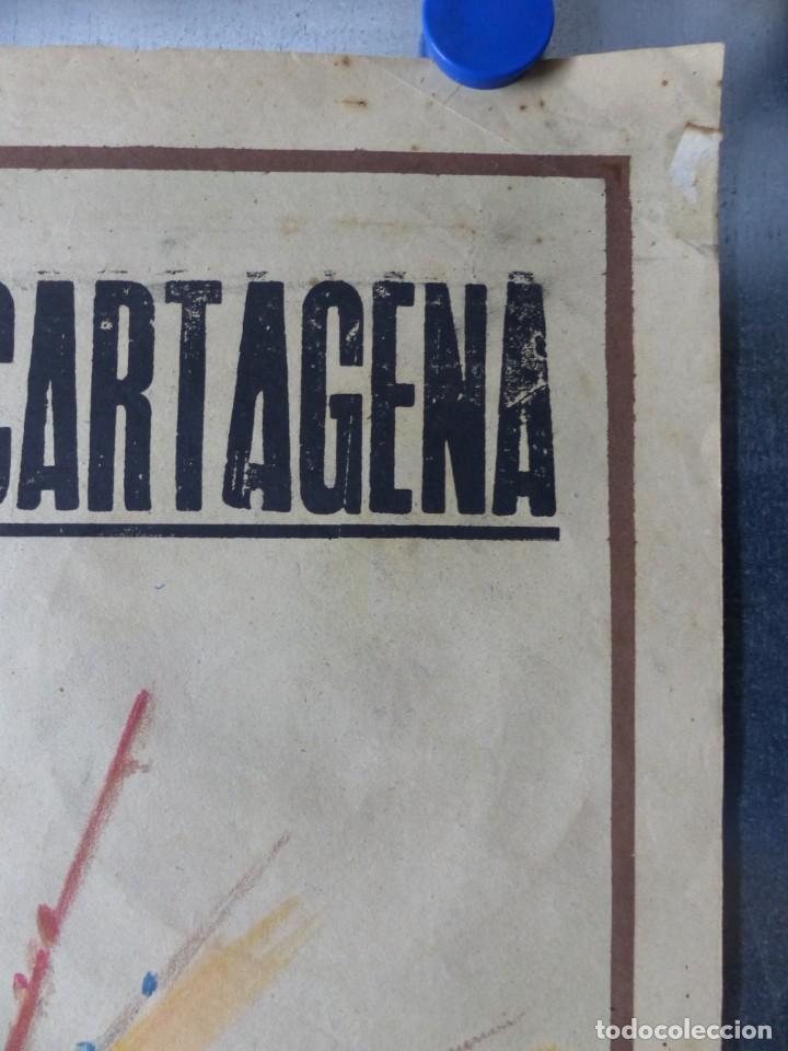 Carteles Toros: CARTEL TOROS CARTAGENA, MURCIA - 14 DE JUNIO DE 1942 - RUANO LLOPIS - LITOGRAFIA - Foto 7 - 168083340
