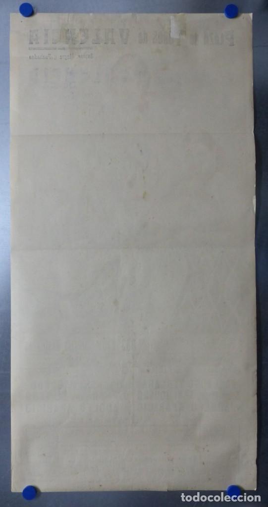 Carteles Toros: CARTEL DE TOROS DE VALENCIA, JUNIO DE 1957 - LITOGRAFIA - RUANO LLOPIS - Foto 8 - 168195436