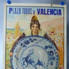Carteles Toros: CARTEL DE TOROS DE VALENCIA, DICIEMBRE DE 1957 - LITOGRAFIA - RUANO LLOPIS. Lote 168195996