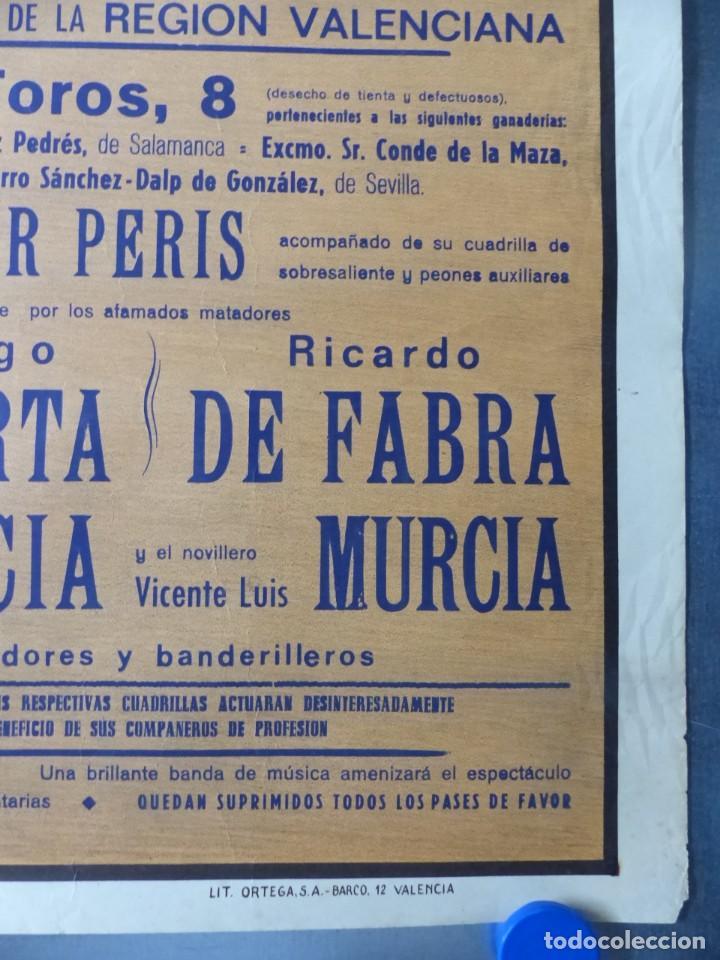 Carteles Toros: CARTEL DE TOROS DE VALENCIA, DICIEMBRE DE 1957 - LITOGRAFIA - RUANO LLOPIS - Foto 2 - 168195996