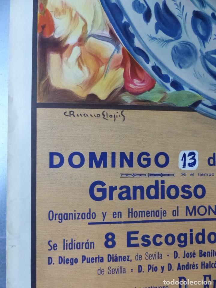 Carteles Toros: CARTEL DE TOROS DE VALENCIA, DICIEMBRE DE 1957 - LITOGRAFIA - RUANO LLOPIS - Foto 4 - 168195996