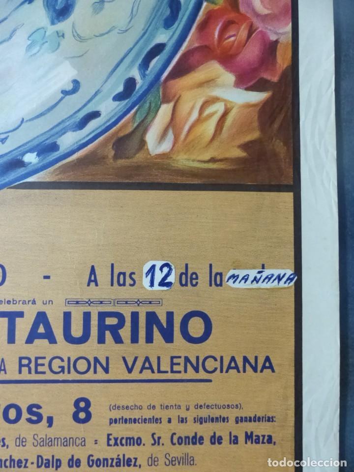 Carteles Toros: CARTEL DE TOROS DE VALENCIA, DICIEMBRE DE 1957 - LITOGRAFIA - RUANO LLOPIS - Foto 5 - 168195996