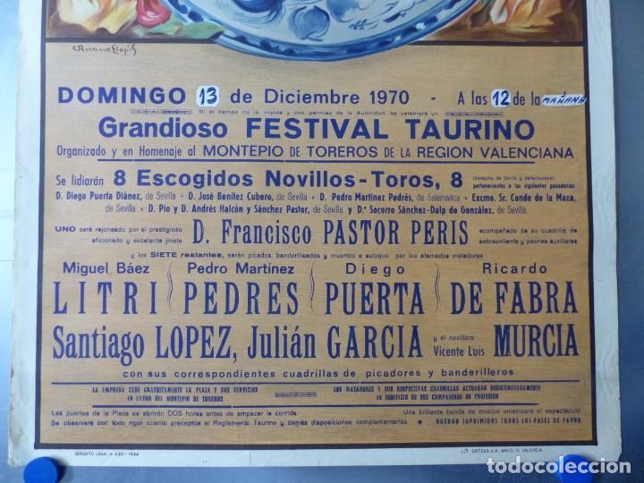 Carteles Toros: CARTEL DE TOROS DE VALENCIA, DICIEMBRE DE 1957 - LITOGRAFIA - RUANO LLOPIS - Foto 9 - 168195996