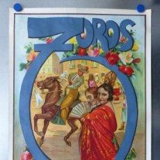 Carteles Toros: CARTEL DE TOROS DE VINAROS, CASTELLON, FEBRERO DE 1990 - RUANO LLOPIS - LITOGRAFIA. Lote 168197280