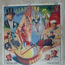 Carteles Toros: CARTEL TOROS - VALENCIA - AÑO 1953, LLAPISERA, CARTEL GRANDE 163X112 CM., DONAT, LITOGRAFIA. Lote 168216528
