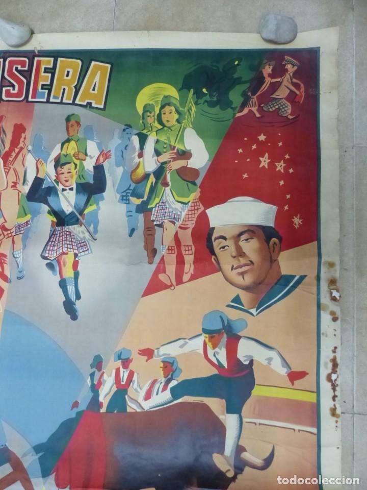 Carteles Toros: CARTEL TOROS - VALENCIA - AÑO 1953, LLAPISERA, CARTEL GRANDE 163X112 CM., DONAT, LITOGRAFIA - Foto 7 - 168216528