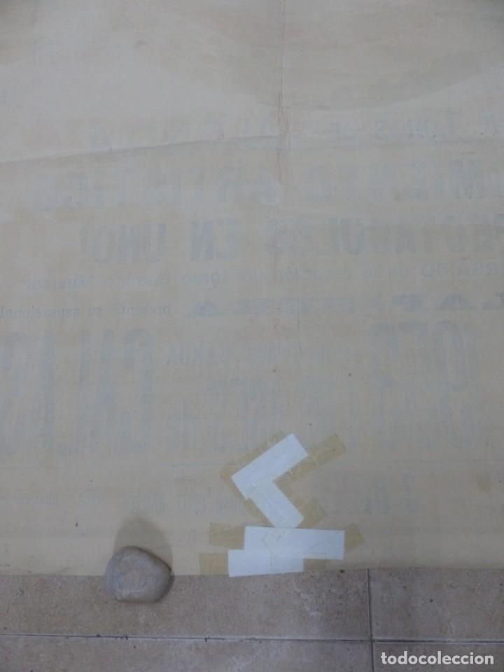 Carteles Toros: CARTEL TOROS - VALENCIA - AÑO 1953, LLAPISERA, CARTEL GRANDE 163X112 CM., DONAT, LITOGRAFIA - Foto 11 - 168216528