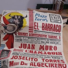 Carteles Toros: CARTEL PLAZA DE TOROS EL BARRACO-1963. Lote 168972001