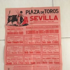 Carteles Toros: CARTEL PLAZA TOROS DE SEVILLA 1965 OSBORNE. Lote 169361201