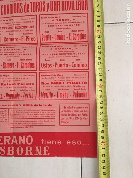 Carteles Toros: Cartel plaza toros de sevilla 1965 Osborne - Foto 2 - 169361201