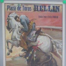 Carteles Toros: CARTEL TOROS, PLAZA HELLIN, ALBACETE, 1966, CEBALLOS, BEJARANO, BLAZQUEZ, CTT24. Lote 169571212