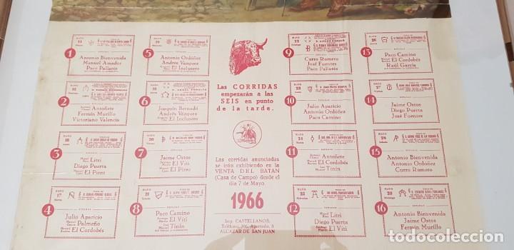 Carteles Toros: Cartel corrida de toros San Isidro Madrid 1966 - Foto 3 - 170076288