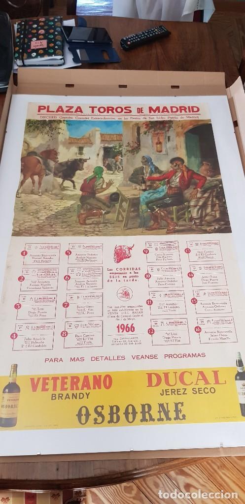 Carteles Toros: Cartel corrida de toros San Isidro Madrid 1966 - Foto 2 - 170076288