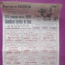 Carteles Toros: CARTEL TOROS, PLAZA VALENCIA, 1966, LITRI, EL CORDOBES, ANTONIO ORDOÑEZ, CT447. Lote 170520716