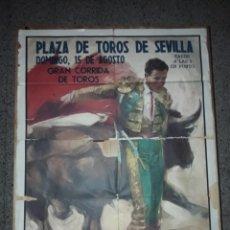 Carteles Toros: CARTEL PLAZA TOROS SEVILLA DIEGO PUERTA JAIME OSTOS EL VITI MIGUEL HIGUERO VIDARTE GRAN TAMAÑO *. Lote 171128559