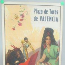 Carteles Toros: CARTEL TOROS, PLAZA VALENCIA, 1949, RAFAEL ORTEGA, JULIO APARICIO, LITRI, CTT36. Lote 171466390
