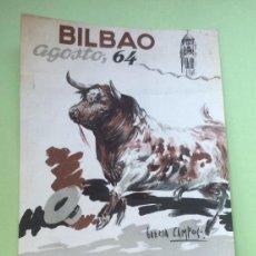 Carteles Toros: CARTEL DE TOROS BILBAO 1964. Lote 171504050