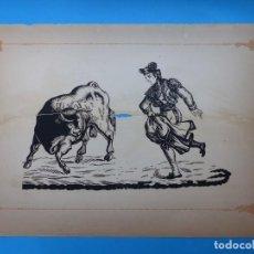 Carteles Toros: ANTIGUO GRABADO TAURINO, IMPRENTA ORGA, AÑOS 1890-1900 - VER DESCRIPCION Y FOTOS. Lote 171622513