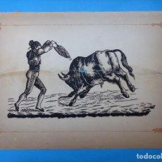 Carteles Toros: ANTIGUO GRABADO TAURINO, IMPRENTA ORGA, AÑOS 1890-1900 - VER DESCRIPCION Y FOTOS. Lote 171622700