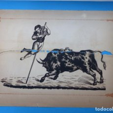 Carteles Toros: ANTIGUO GRABADO TAURINO, IMPRENTA ORGA, AÑOS 1890-1900 - VER DESCRIPCION Y FOTOS. Lote 171623097