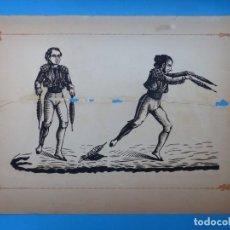 Carteles Toros: ANTIGUO GRABADO TAURINO, IMPRENTA ORGA, AÑOS 1890-1900 - VER DESCRIPCION Y FOTOS. Lote 171623169
