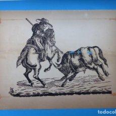 Carteles Toros: ANTIGUO GRABADO TAURINO, IMPRENTA ORGA, AÑOS 1890-1900 - VER DESCRIPCION Y FOTOS. Lote 171623320