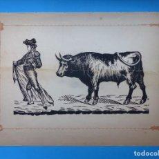 Carteles Toros: ANTIGUO GRABADO TAURINO, IMPRENTA ORGA, AÑOS 1890-1900 - VER DESCRIPCION Y FOTOS. Lote 171623372
