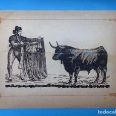 Carteles Toros: ANTIGUO GRABADO TAURINO, IMPRENTA ORGA, AÑOS 1890-1900 - VER DESCRIPCION Y FOTOS. Lote 171623554