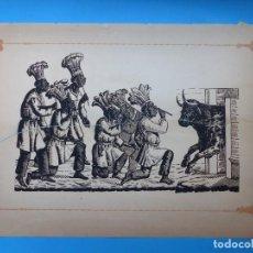 Carteles Toros: ANTIGUO GRABADO TAURINO, IMPRENTA ORGA, AÑOS 1890-1900 - VER DESCRIPCION Y FOTOS. Lote 171623617