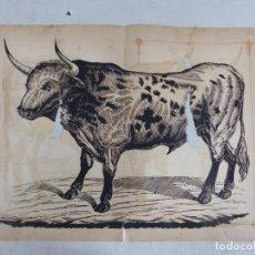 Carteles Toros: ANTIGUO GRABADO TAURINO, IMPRENTA ORGA, AÑOS 1890-1900 - VER DESCRIPCION Y FOTOS. Lote 171623925