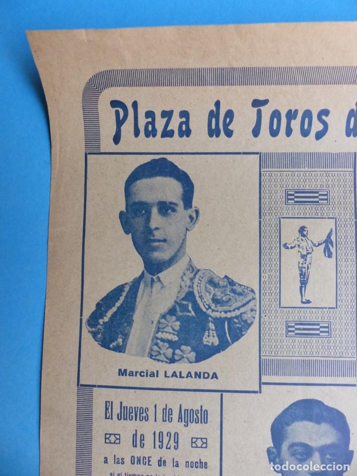 Carteles Toros: CARTEL TOROS - VALENCIA - AGOSTO DE 1929 - LALANDA, MARTINEZ, CHAVES Y TORRES - Foto 5 - 172171004