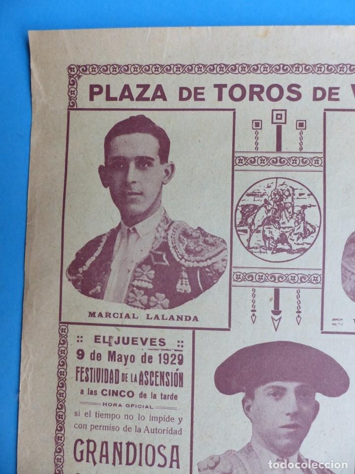 Carteles Toros: CARTEL TOROS - VALENCIA - MAYO DE 1929 - MARCIAL LALANDA, VICENTE BARRERA Y ENRIQUE TORRES - Foto 5 - 172171354