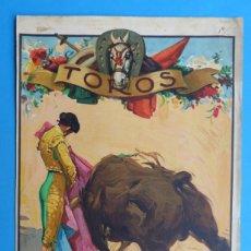 Carteles Toros: CARTEL TOROS - SIN IMPRIMIR - LITOGRAFIA - RUANO LLOPIS. Lote 172172027
