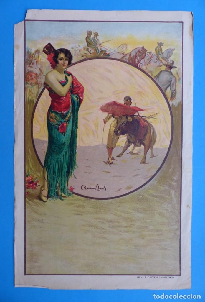 CARTEL TOROS - SIN IMPRIMIR - LITOGRAFIA - RUANO LLOPIS (Coleccionismo - Carteles Gran Formato - Carteles Toros)