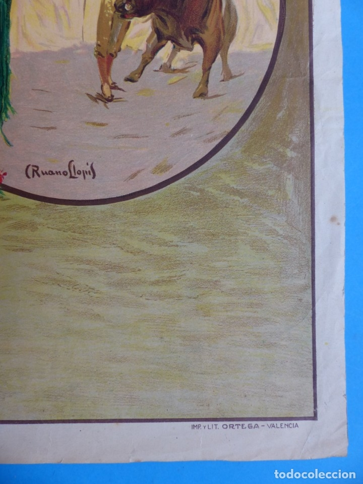 Carteles Toros: CARTEL TOROS - SIN IMPRIMIR - LITOGRAFIA - RUANO LLOPIS - Foto 3 - 172172199