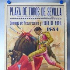 Carteles Toros: CARTEL TOROS - SEVILLA, FERIA ABRIL, AÑO 1964 - J. REUS. Lote 172220702